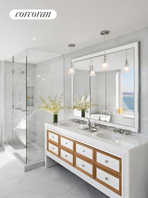 New York City Real Estate | View 212 Warren Street, Phs | Enjoy his & her Spa Master Bathrooms