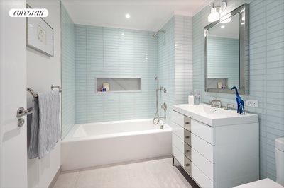New York City Real Estate | View 212 Warren Street, Phs | Spacious & serene guest bathrooms