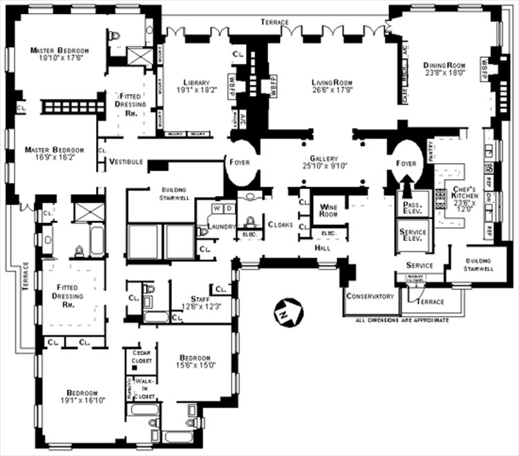 New York City Real Estate | View 1040 Fifth Avenue, #15 FL | Floorplan