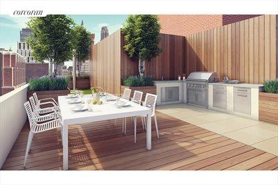 New York City Real Estate | View 212 Warren Street, Phs | Amazing private Roof Deck w/Hot Tub & Outdoor Kit