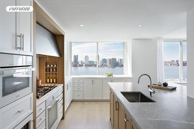 New York City Real Estate | View 212 Warren Street, Phs | Watch the boats while cooking in this Chef's Kit