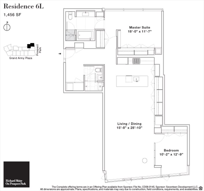 New York City Real Estate | View 1 Grand Army Plaza, #6L | Floorplan