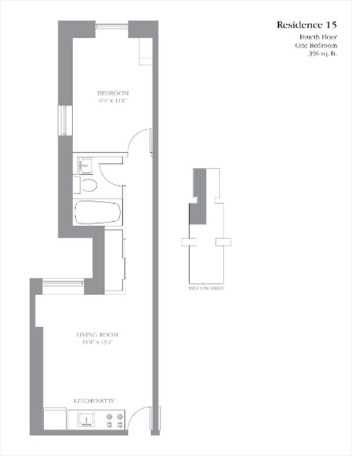New York City Real Estate | View 245 West 115th Street, #15 | Floorplan
