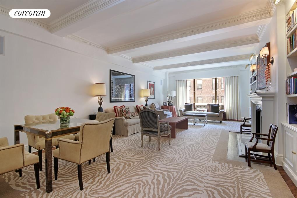 Corcoran 1120 park avenue apt 14b carnegie hill real for Living room 86th st