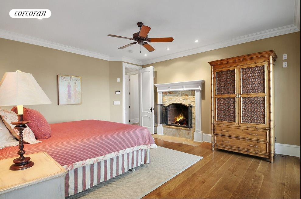 Master suite has fireplace too