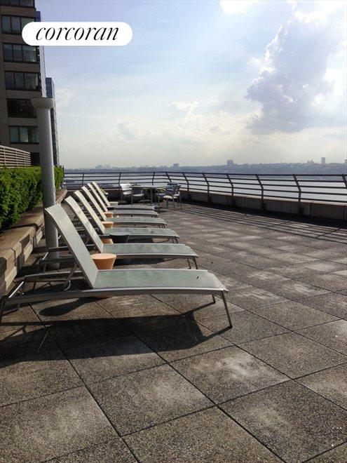 New York City Real Estate | View 120 Riverside Blvd, #11M | Terrace over the Hudson