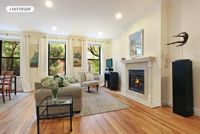 99 Saint Marks Place, 2, Featuring a beautiful fireplace...
