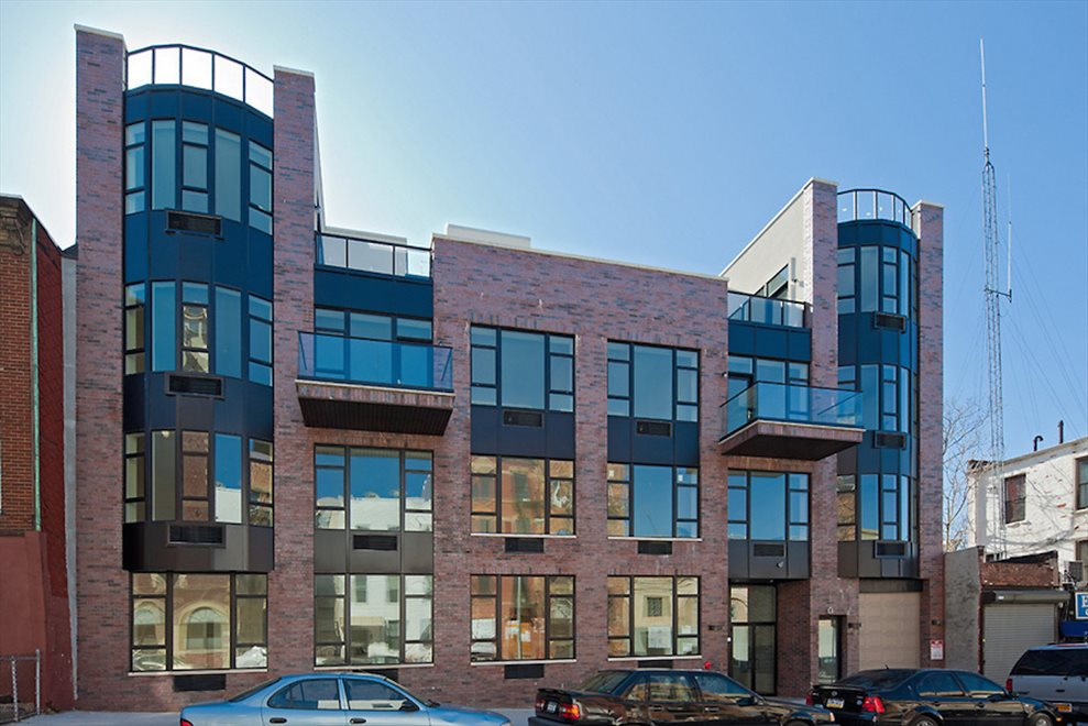 Modern new construction with a plethora of windows