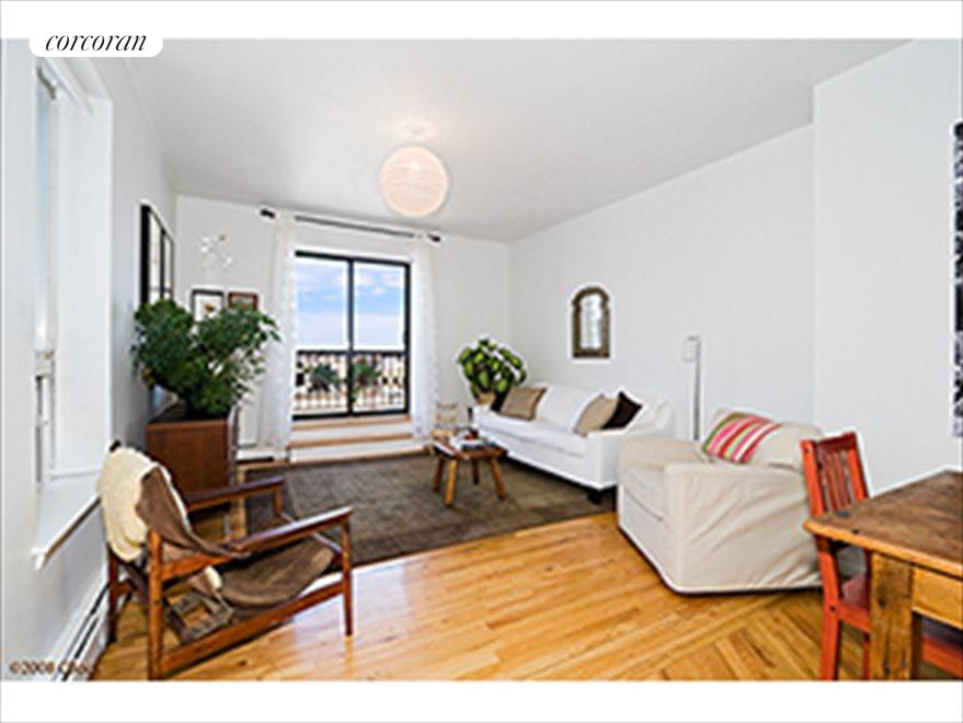 New York City Real Estate | View 115 Eastern Parkway, #6B | Living room with balcony