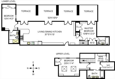 New York City Real Estate | View 58 Strong Place, #4A | Floorplan