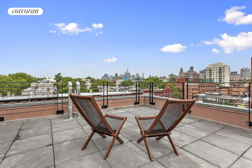 Roof Deck w 360 degree views including NYC skyline