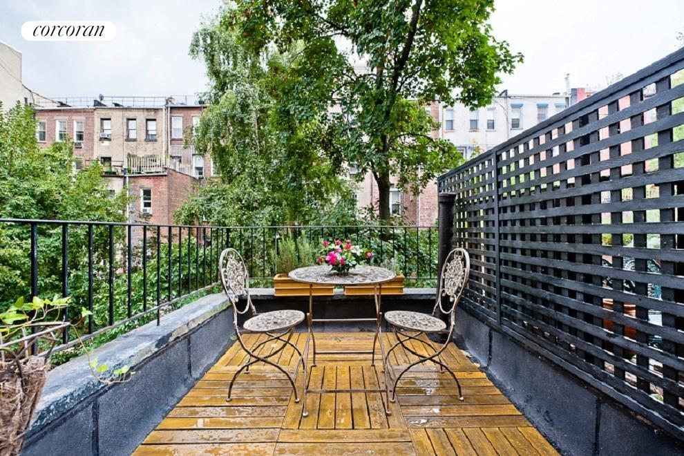 Charming terrace off Master Suite