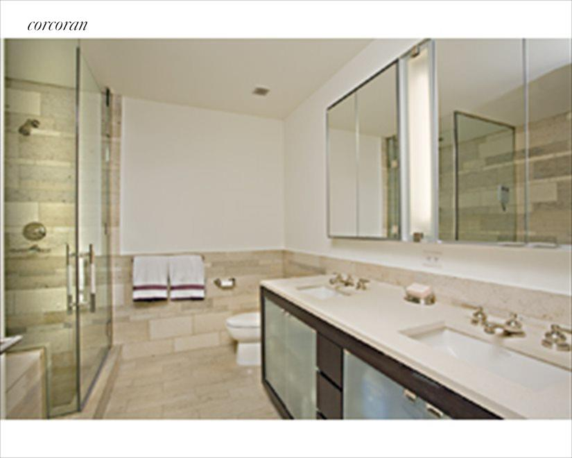 Large en-suite baths and powder room