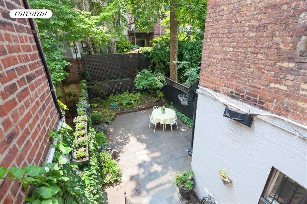 Looking from Parlor into Private Garden