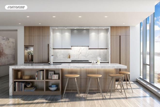 1 West End Avenue, 32B, The Open Kitchen in Light Finish