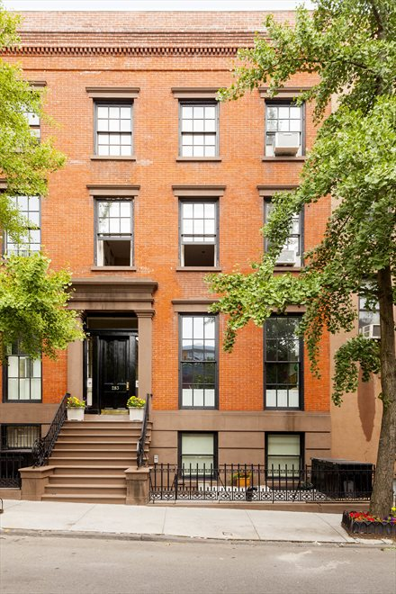 New York City Real Estate | View 283 Hicks Street, #PH | Brick Townhouse on Tree-Lined Hicks Street