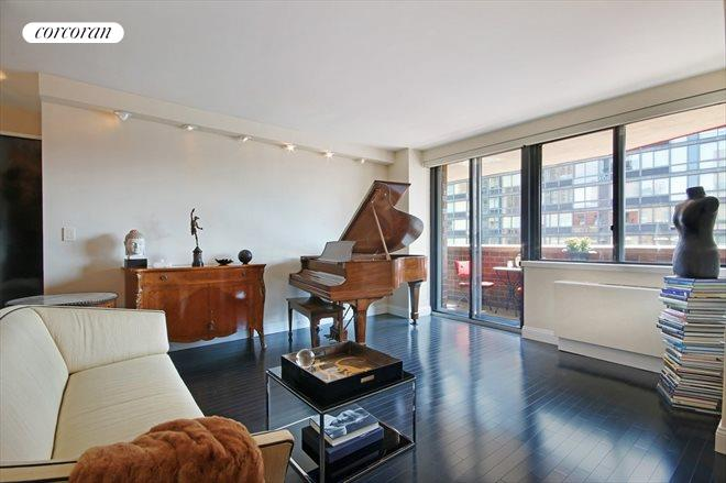 233 east 86th street 19a large living room with balcony and south exposure - Living Room 86th Street