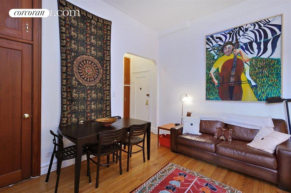Great wall space to have your own art gallery