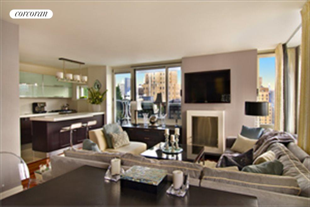 New York City Real Estate | View 270 West 17th Street, #19C | 1 Bed, 2 Baths