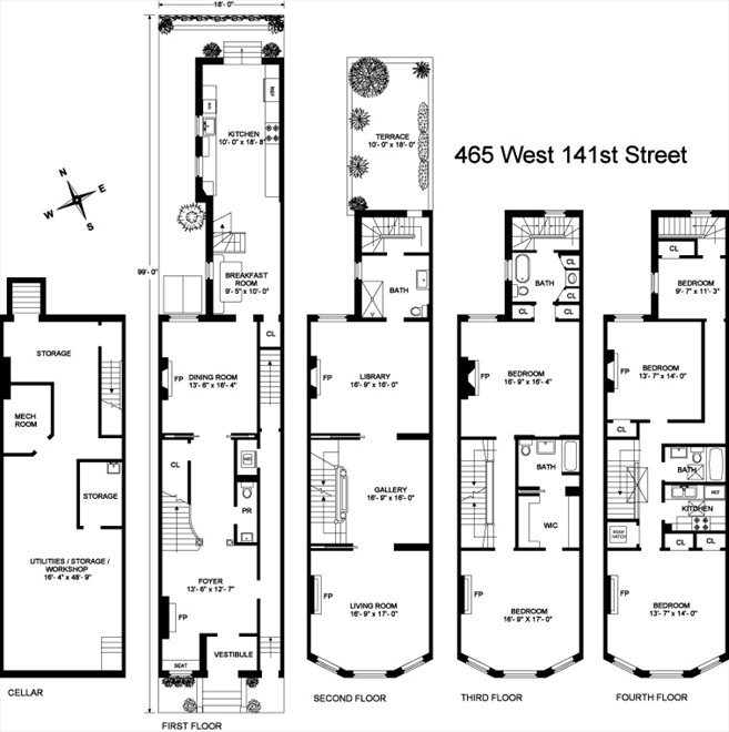 New York City Real Estate | View 465 West 141st Street | Floorplan