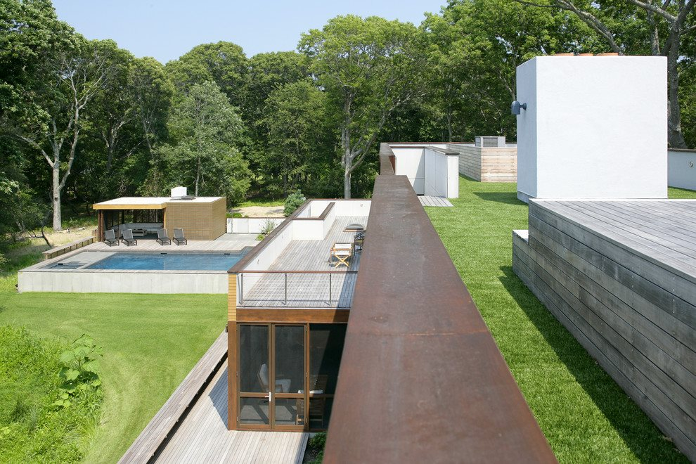 Rooftop deck is a great spot from which to view the property