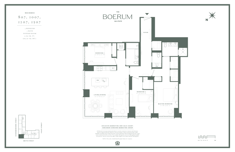 Floor plan of The Boerum, 265 State Street, 1507 - Boerum Hill, New York