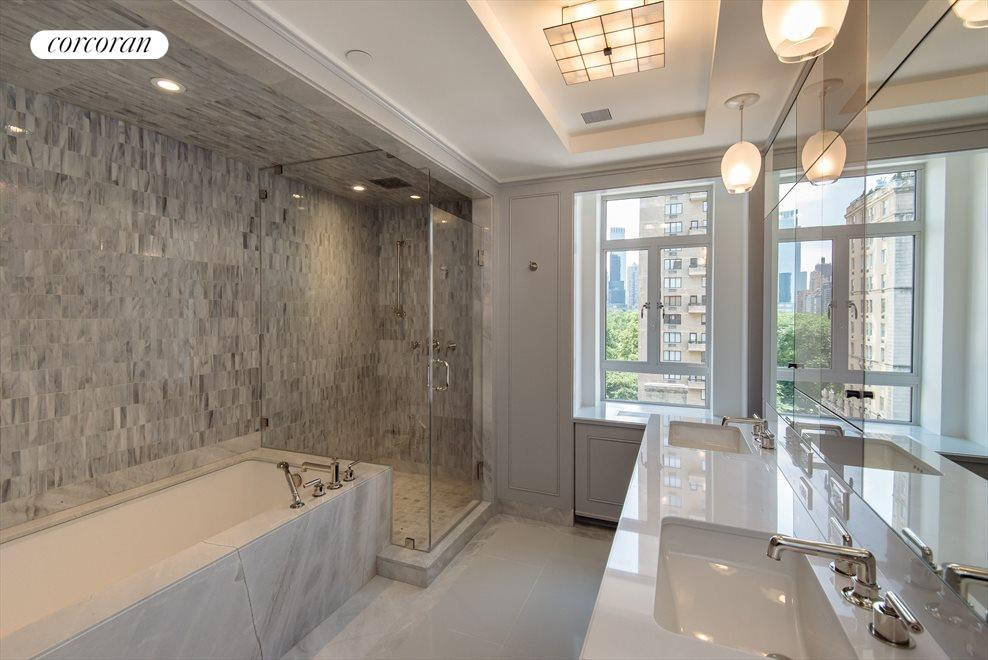 Master Bathroom with Central Park View
