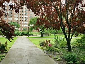 huge manicured garden for residents