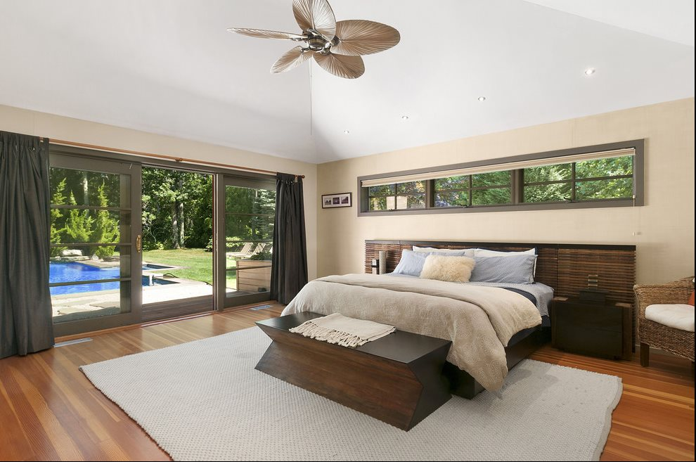 Master bedroom suite with views