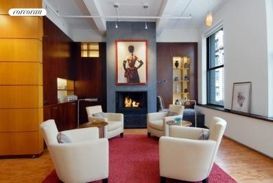 8 West 19th Street, 8 FL, Living Area with Fireplace