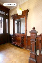 Entry hall with pier mirror