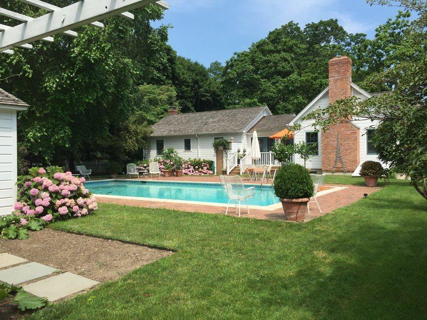 Spacious yard with beautiful pool area