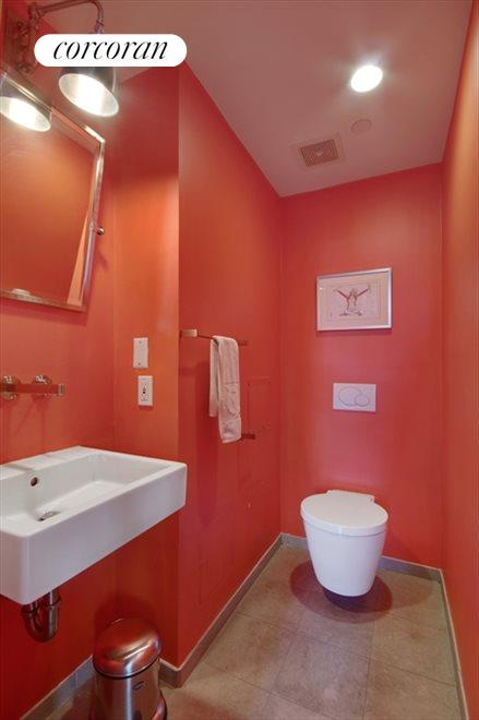New York City Real Estate | View 77 White Street, #4 FL | Whimsical Powder Room and...