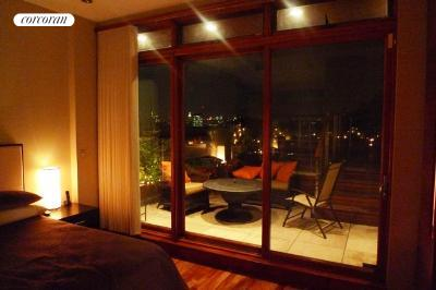 nighttime view with terrace