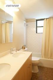 Renovated bathroom w/double sinks