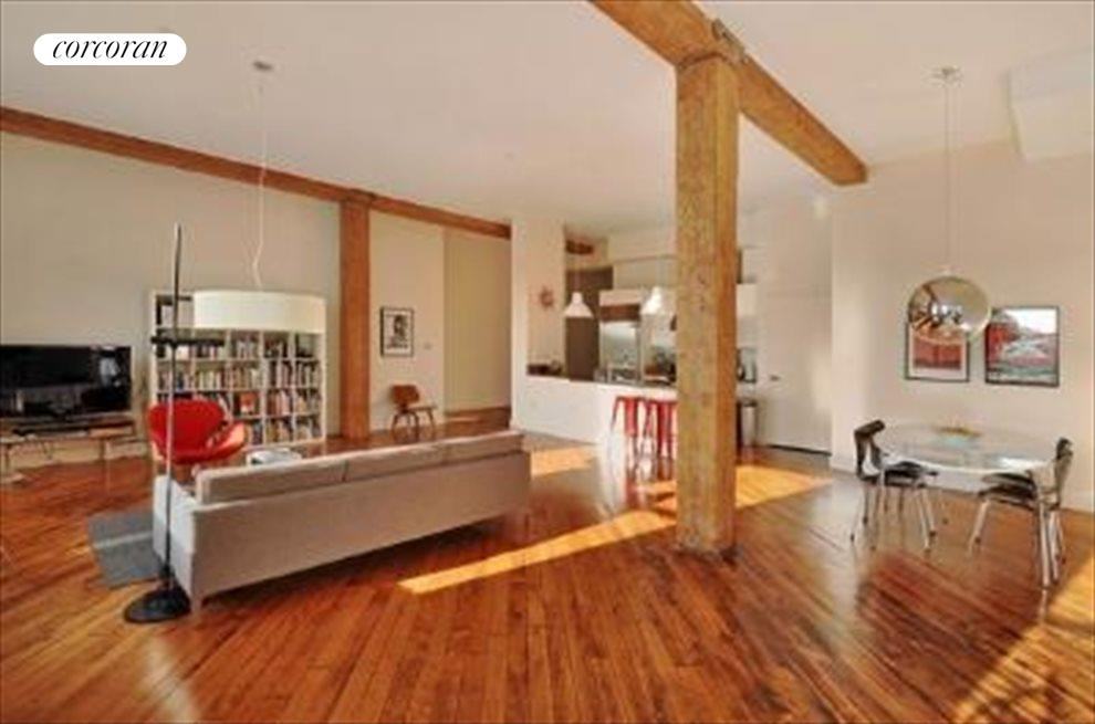 Original Wood Beams & Floors 15' Ceiling