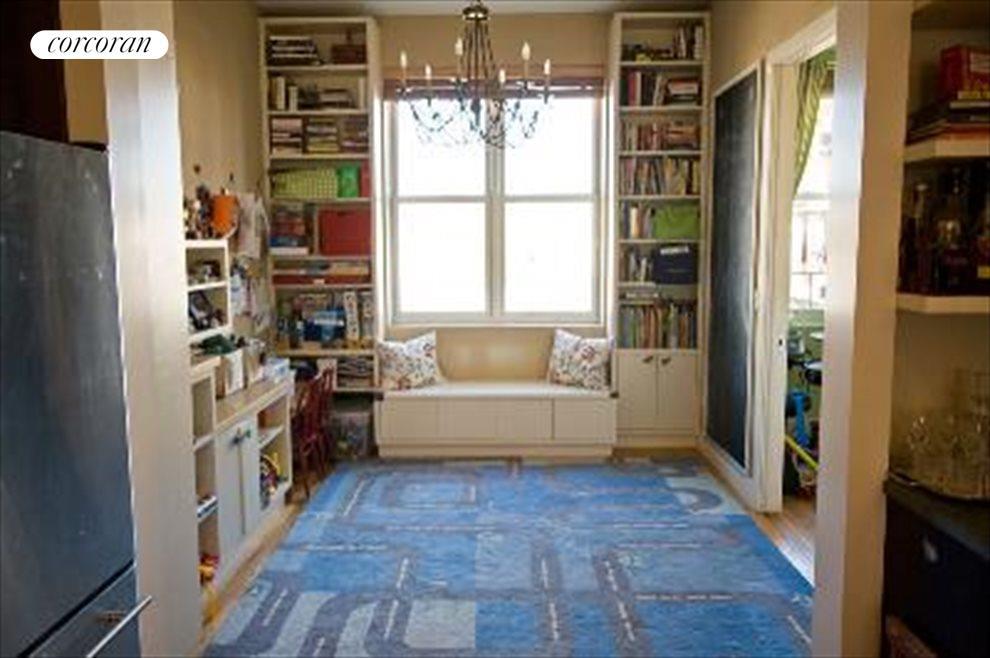 Dining room set up as playroom