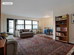150 West End Avenue, 20D, Living Room with Large Dining Area