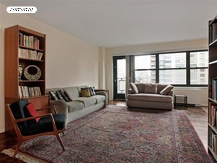 Expansive Living Room Leads To Balcony