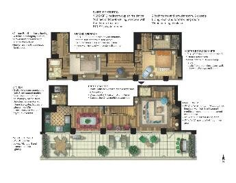 West 23rd Street, PH21D, Floor Plan
