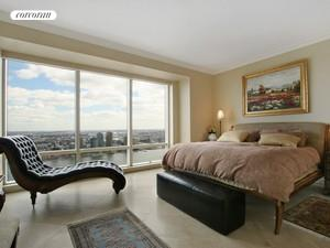 845 United Nations Plaza, 50A, Living Room and peak of dining room/conv