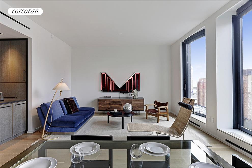 505 West 19th Street, 6C, Living Room and Dining Room