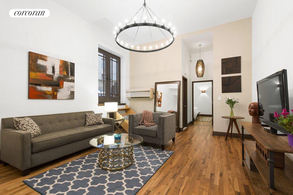 Living Room w/ 12' Ceilings