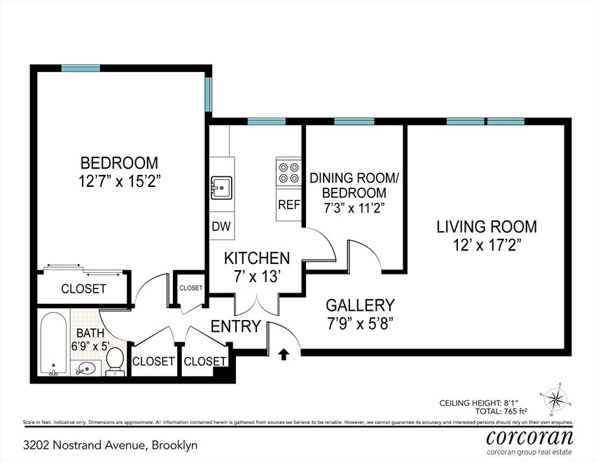 New York City Real Estate | View 3202 Nostrand Avenue, #3L | Floorplan