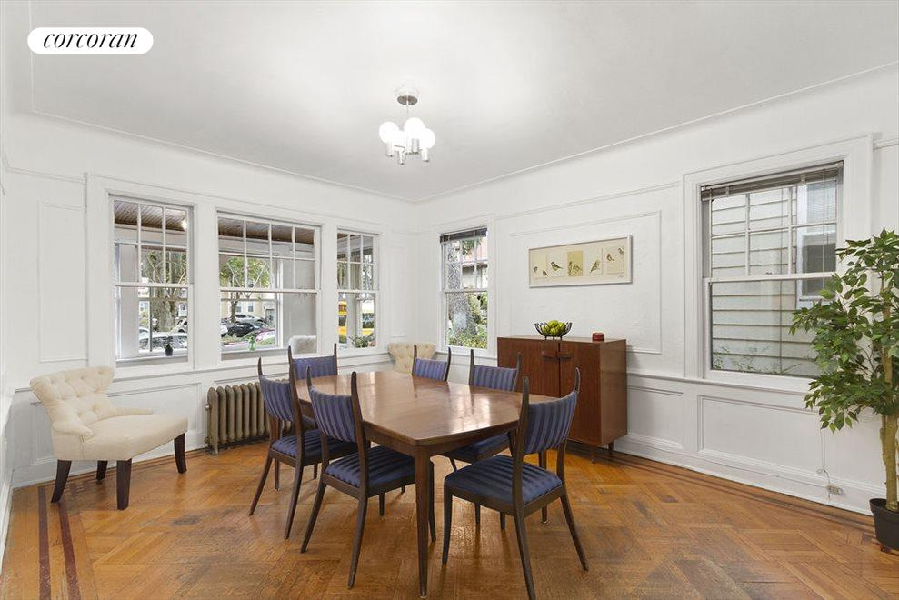 Grand dining room with original details