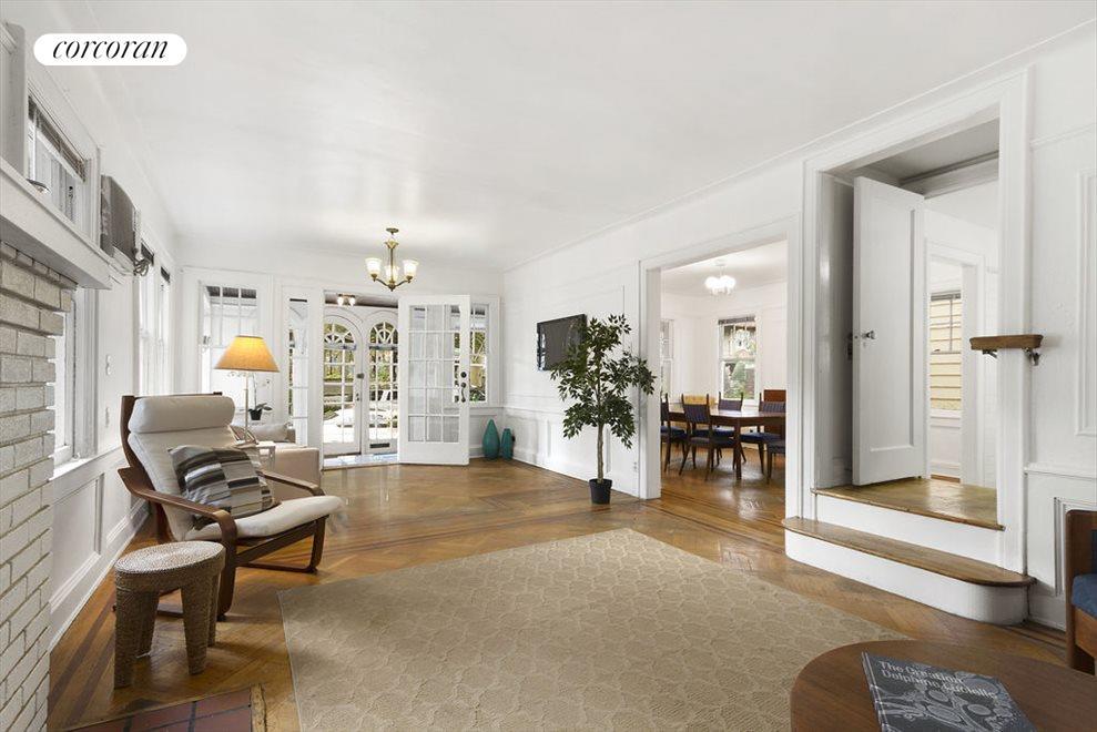 Double-length living room with original details