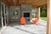 East Hampton, Outdoor Porch w/ fireplace
