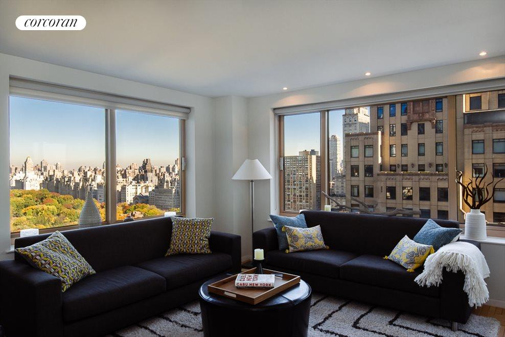Corner Living Room with Central Park Views
