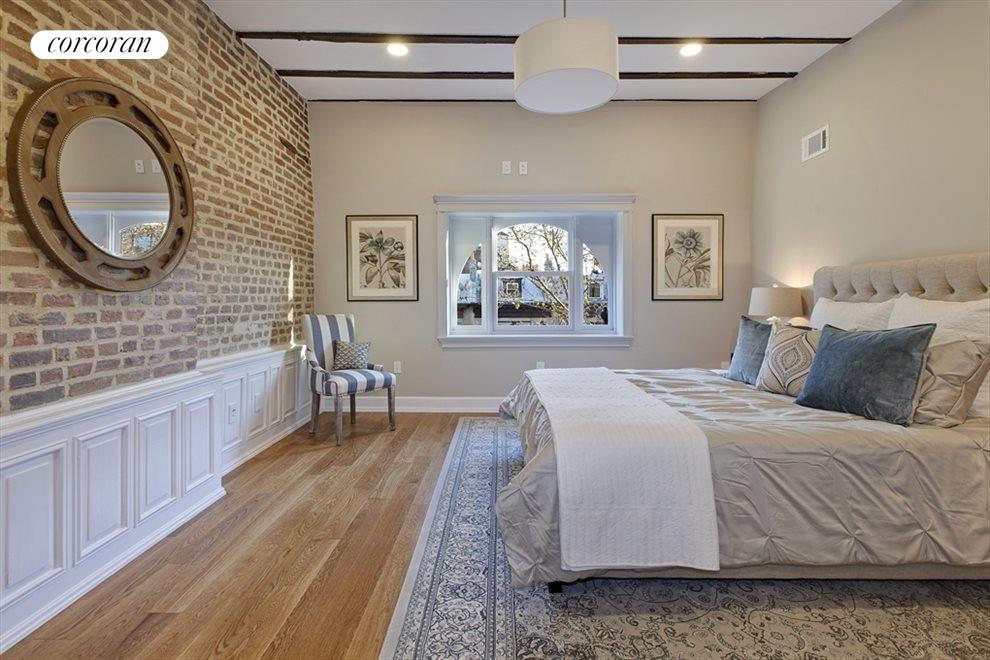 Great light and detail in the master bedroom