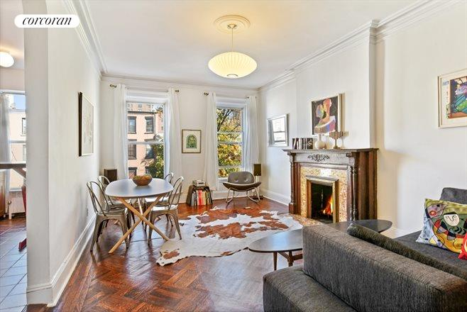 849 Carroll Street, 4, Elegant living with wood-burning fireplace...